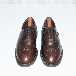 Eddie Bauer Leather Brogue Wing Tip 9.5 M Made USA
